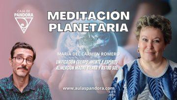 Maria del Carmen Romero – MEDITACIÓN PLANETARIA